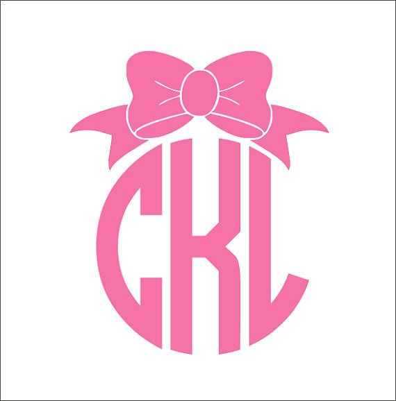 Bow Decal For Car Gallery Of Cute Bow Monogram Vinyl Decal Car - Bow custom vinyl decals for car