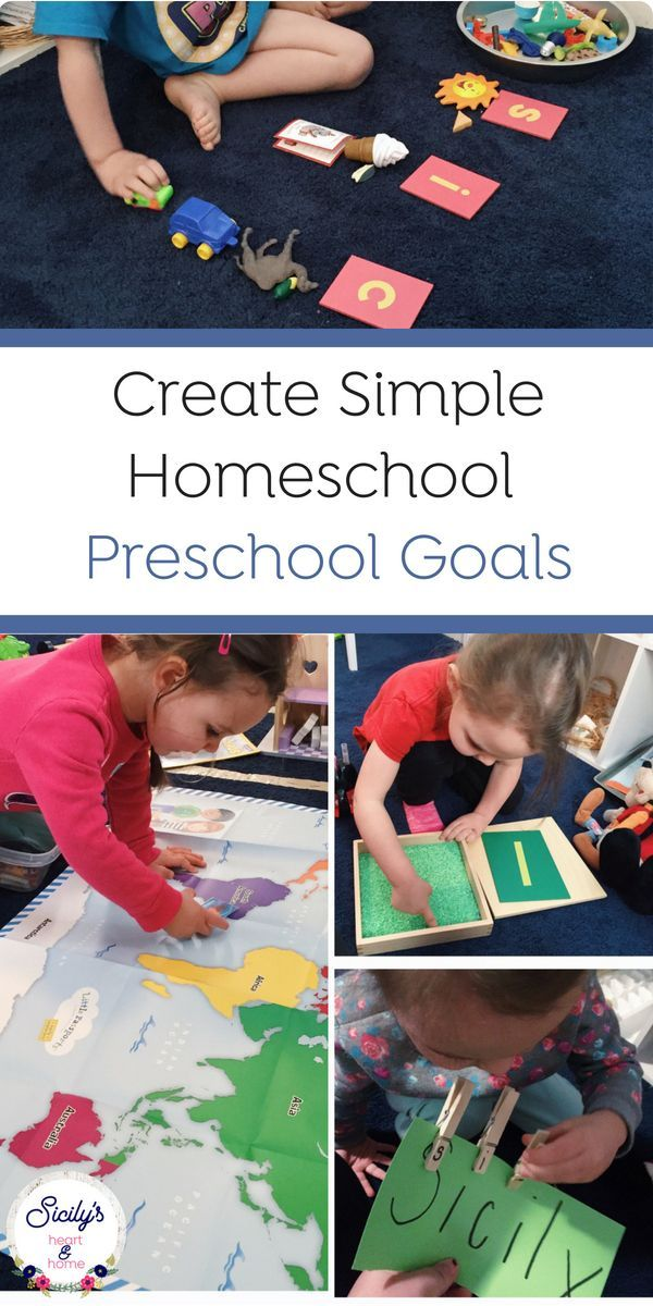 How to Write Simple Home Preschool Early Learning Goals ...