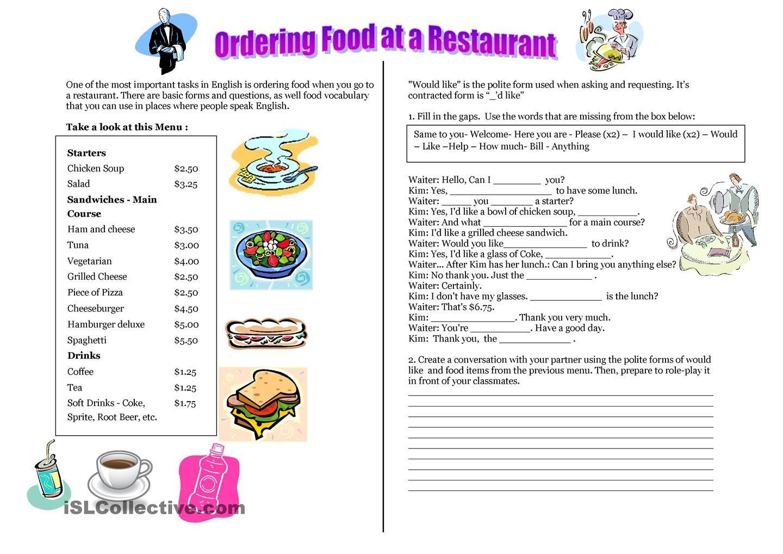 Empowered By Them Life Skills Printables Google Search Restaurant Order Order Food Menu Restaurant