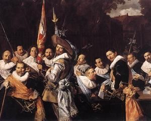 Officers and Sergeants of the St. Hadrian Civic Guard - Frans Hals    c.1633
