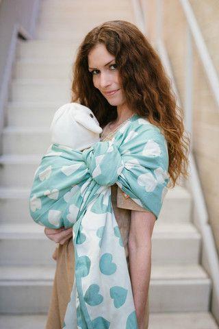 Tula Love Wrap Conversion Ring Sling Creme De Menthe Babywearing