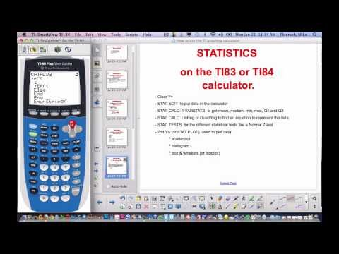 How to use TI83 or 84 calculator - YouTube