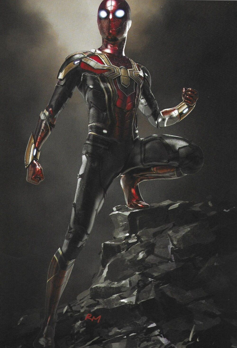 Lots Of Cool Concept Art For Spider Man Far From Home Features Hulkbuster Style Mysterio Suit Alternate Spidey Suits And Illusion Landscapes Spiderman Concept Art Hulkbuster