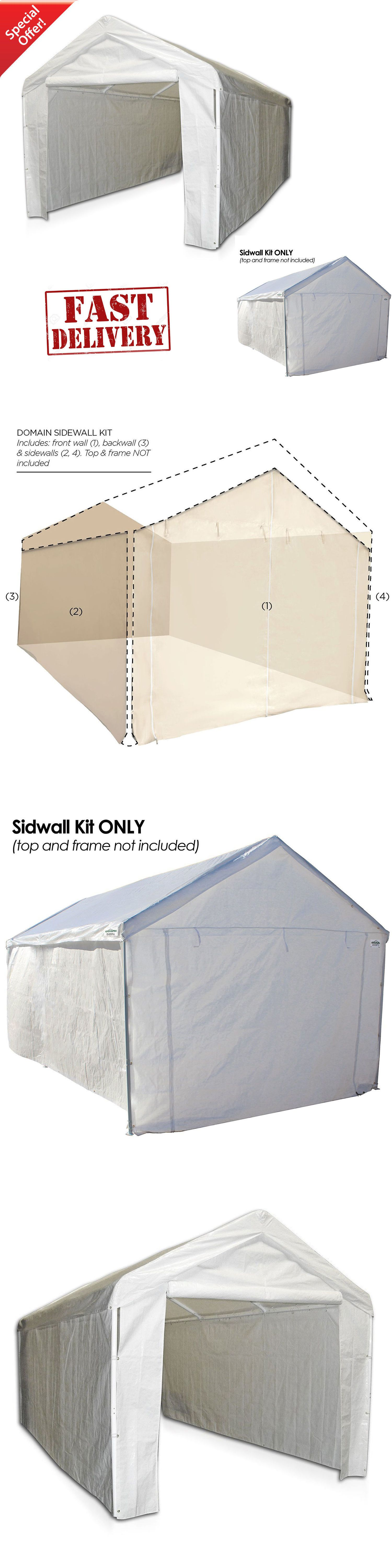 Details about Garage Canopy Side Wall Kit ONLY 10 x 20