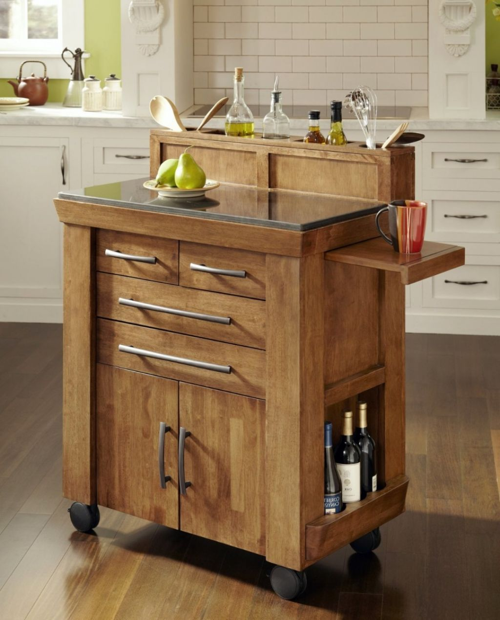 Portable kitchen island designs - Portable Kitchen Islands On Wheels