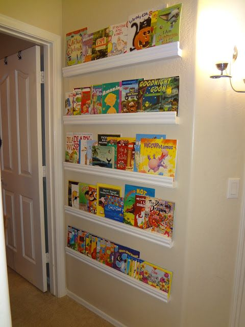 Impossibly Un Crafty: Childrens Forward Facing Bookshelf Tutorial