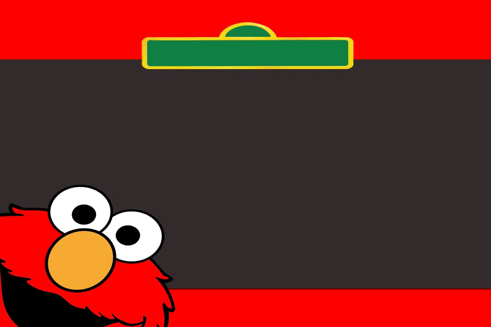 Elmo Birthday Invitations Template | Lari basteln | Pinterest | Elmo ...