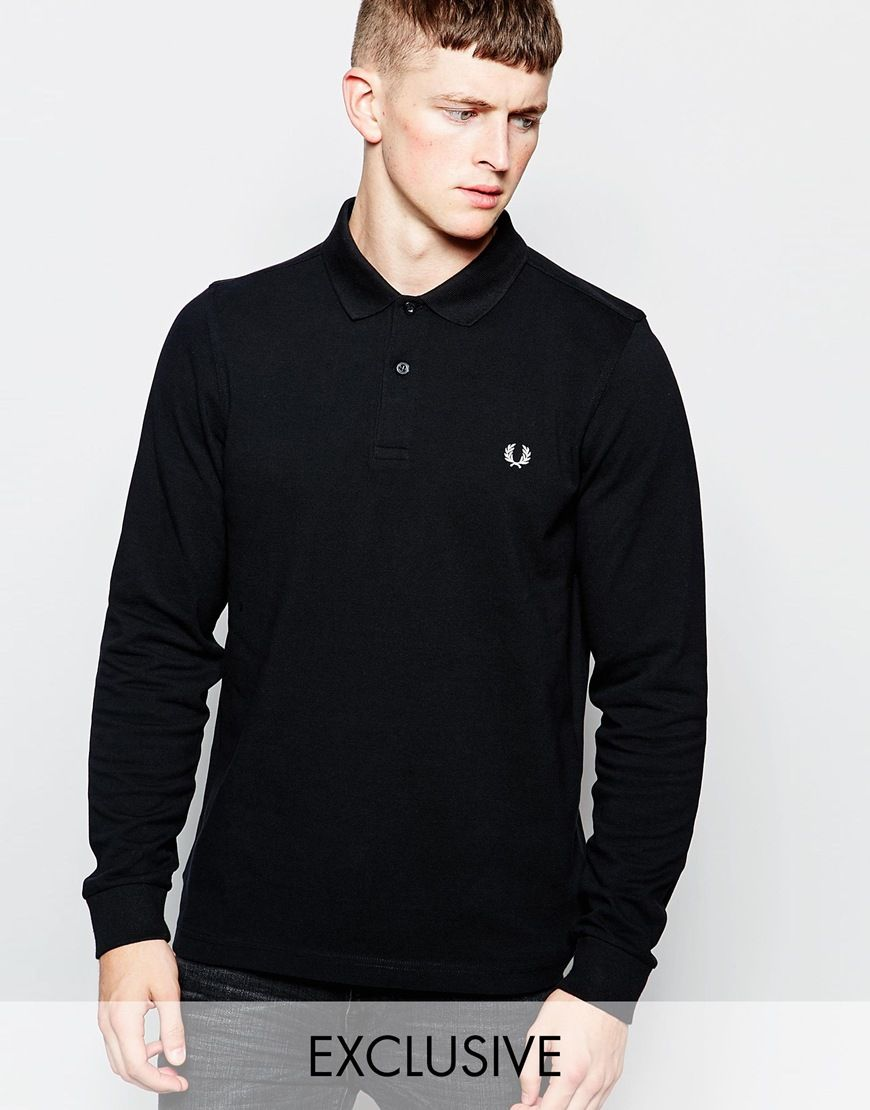 Fred Perry Long Sleeve Polo Shirt Exclusive Crimbo Long Sleeve