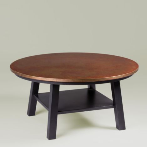 Ethan Allen Copper Top Coffee Table...next Up For The Living Room.