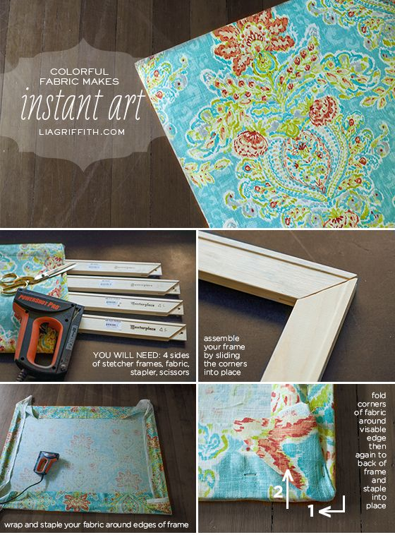 Make Easy Diy Art With A Canvas Stretcher And Fabric Diy Canvas