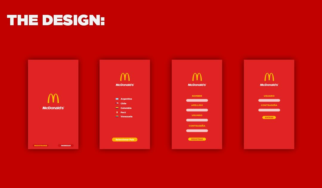 McDonald's App on Behance Mcdonald's app, Mcdonalds, App