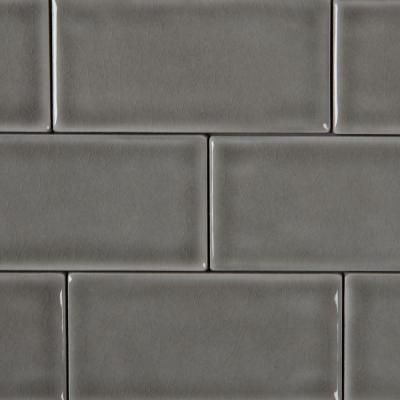 High Quality MSI Dove Gray 3 In. X 6 In. Handcrafted Glazed Ceramic Wall Tile (1 Sq. Ft.  / Case) PT DG36   The Home Depot