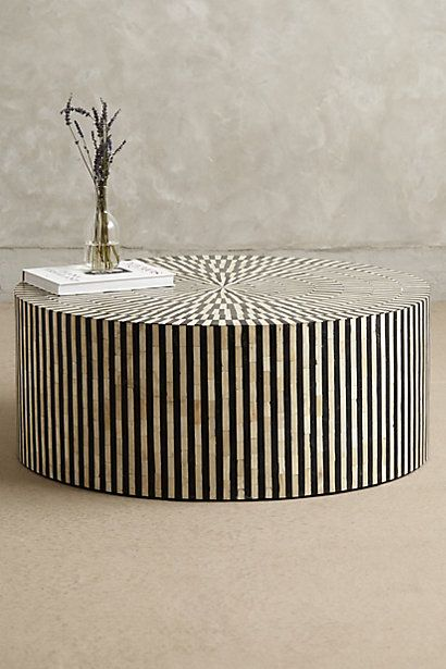 Rounded Inlay Coffee Table Meubles Art Deco Table De Salon