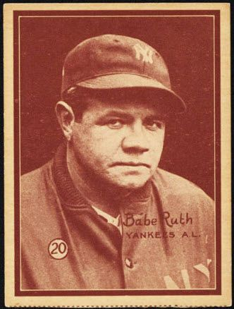 W517 Baseball Card Set Offers Value Babe Ruth Baseball Cards Baseball Card Values