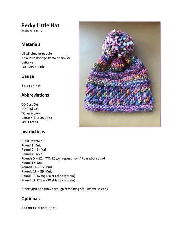 Photo of Ravelry: Perky Little Hat-mønster av Sharon Lentsch