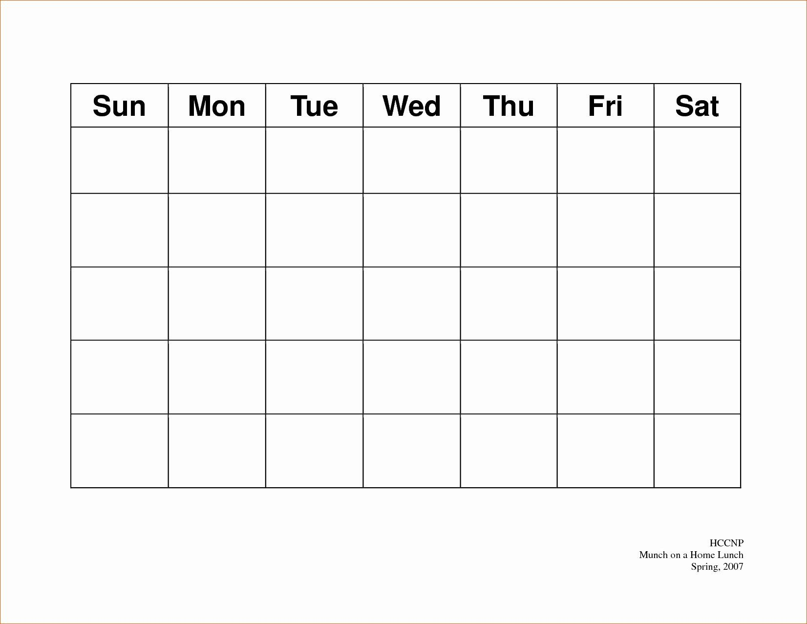 5 Day Schedule Template Luxury Free Printable 5 Day Monthly Calendar 2018 Template Weekly Calendar Template Blank Calendar Template Calendar Template