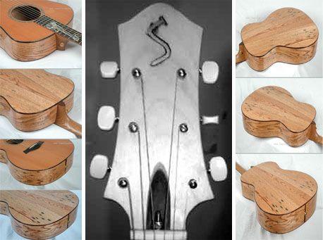 wtf?! Guitars made out of pallets! damn  guitarra feita com paletes , com a insignia S feita com prego, Existem à venda, mas não é para qualquer um fazer uma peça destas!...