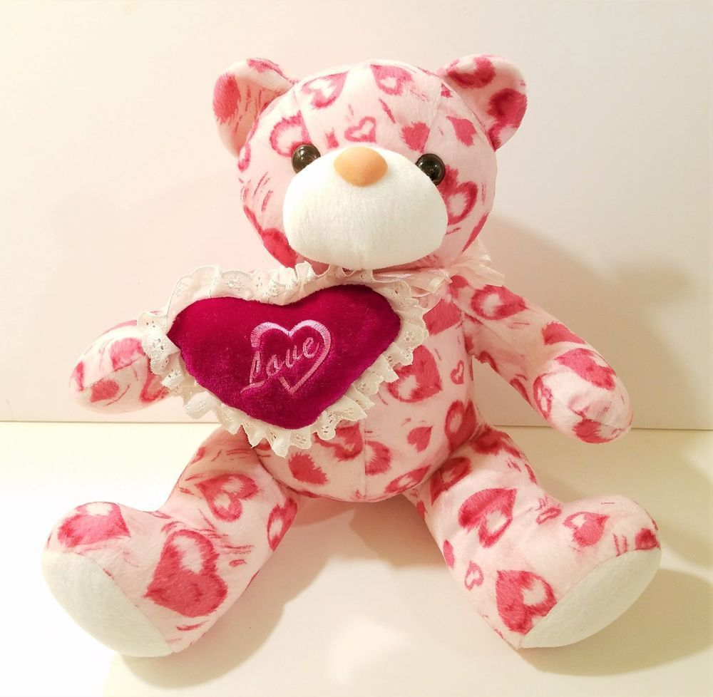 Teddy bear toys images  New Stuffed Plush Love Teddy Bear Toy Animal Hearts and Hugs