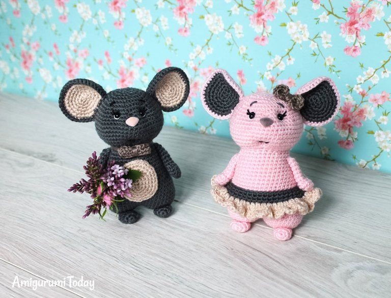 Mouse couple - Free crochet pattern by Amigurumi Today | AMIGURUMIS ...