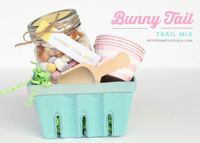 Easter Bunny Tail Trail Mix DIY and FREE printables!!!