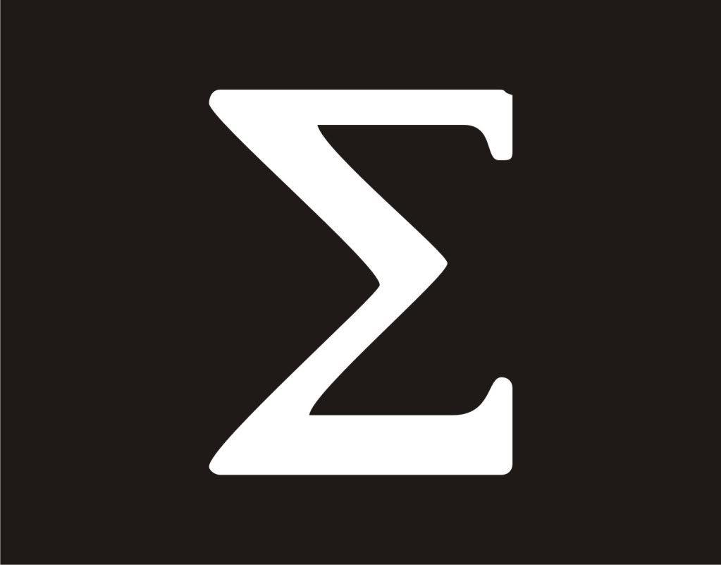 Greek Symbol For Knowledge Greek Letter Sigma Symbol Science Math