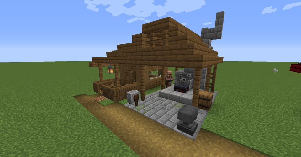 Blacksmith Design (Village Pallet WIP) : Minecraft ...