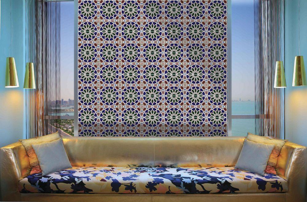 Moroccan tiles azulejo islamico para decorar - Azulejos decorativos para salones ...