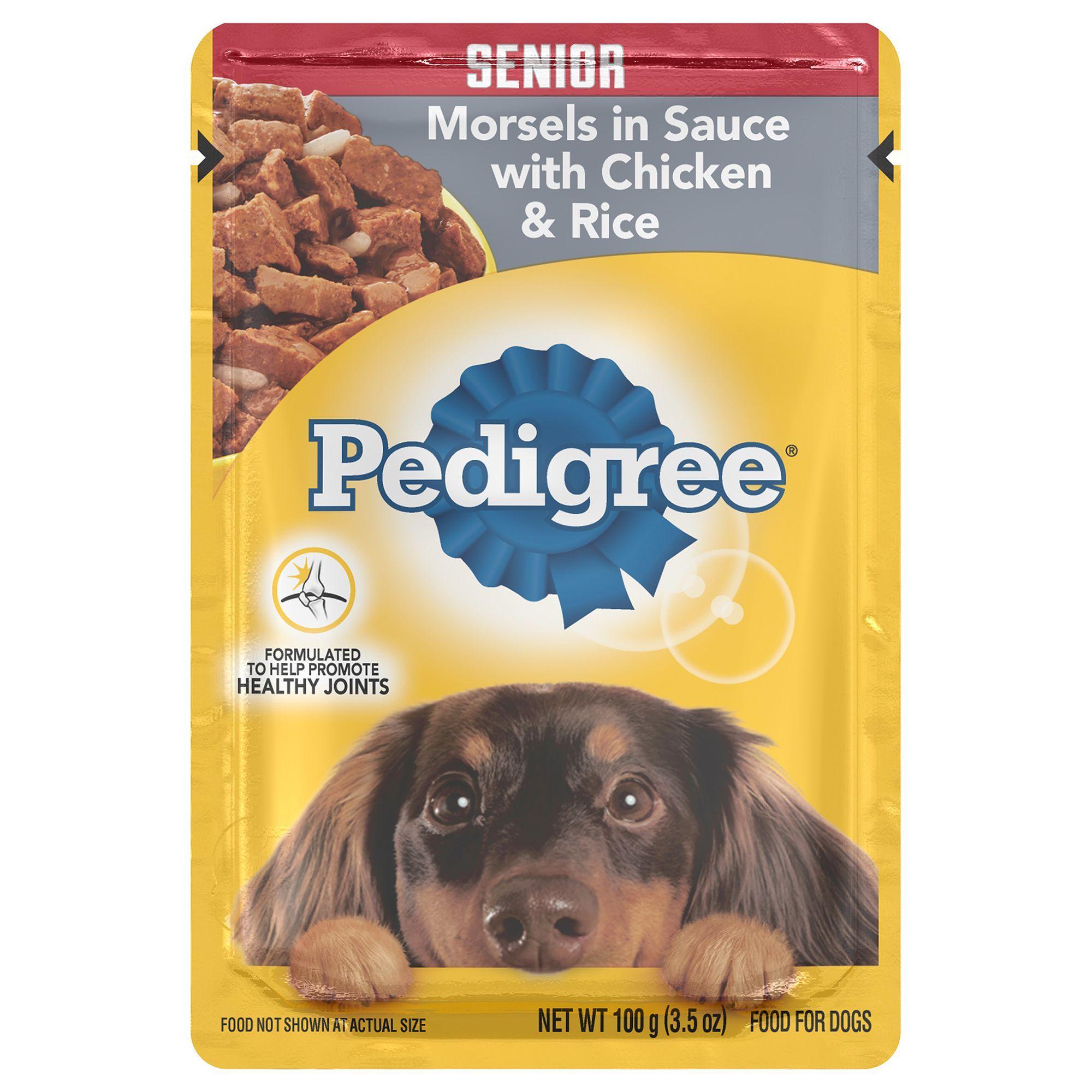 Pedigree Senior Dog Food Morsels W Chicken And Rice Size 3 5
