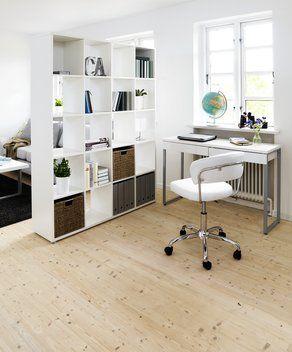 Písací stôl STEGE výrazný biely lesk | JYSK