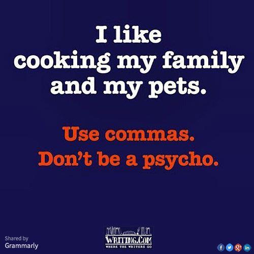 Correct punctuation.