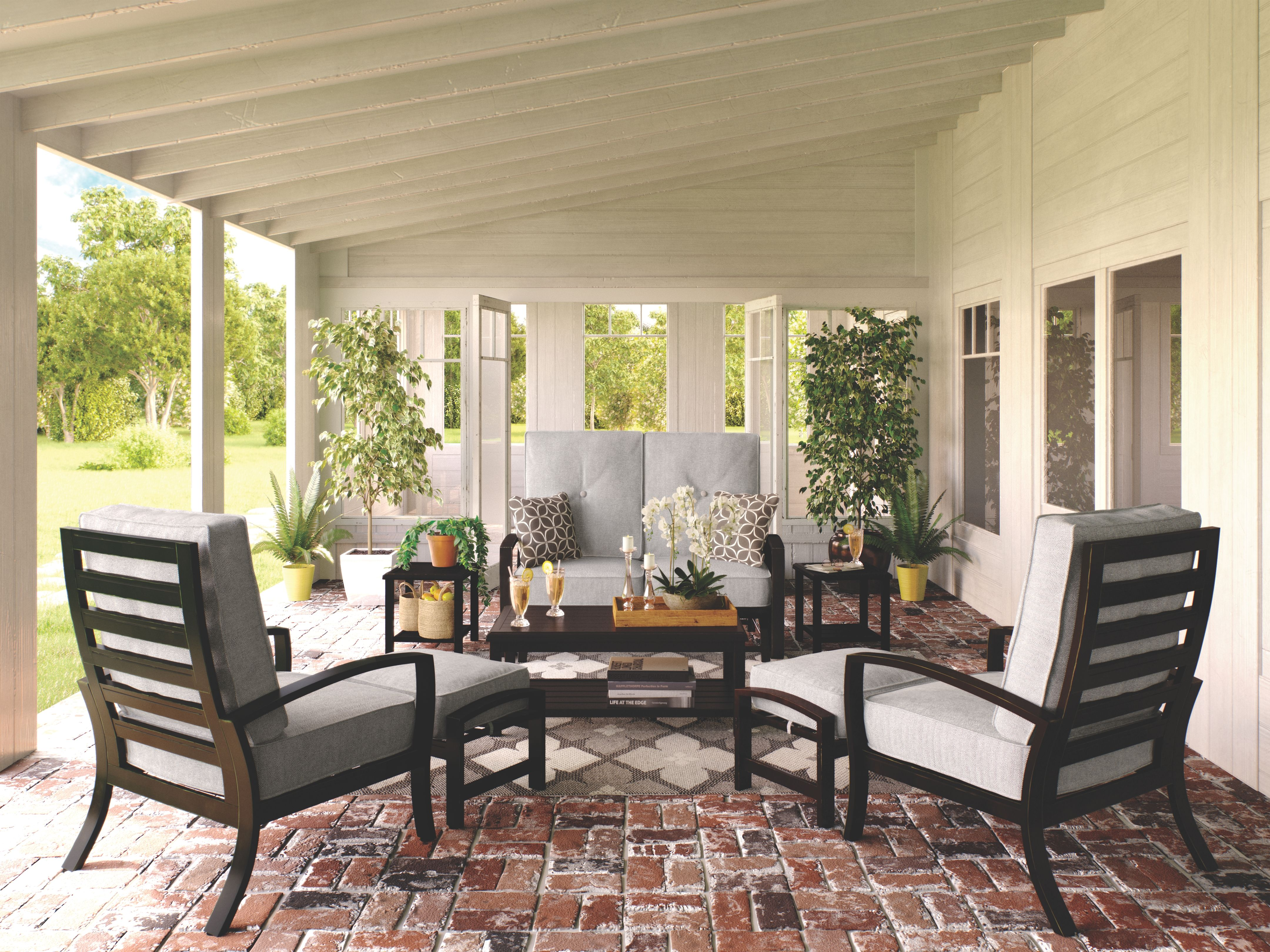 Castle Island End Table Ashley Furniture Homestore In 2021 Outdoor Living Space Patio Decor Outdoor Conversation Sets