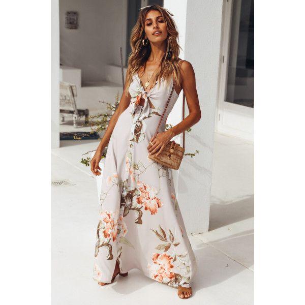a32fef75e8fe Sounds Of Summer Maxi Dress Beige