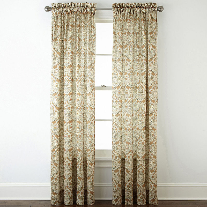 Jcpenney Home Hilton Rod Pocket Curtain Panel Panel Curtains