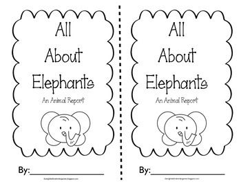 All about Elephants Writing-Nonfiction Writing for lower