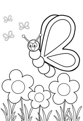 Butterfly Cartoon Coloring Pages Portraits