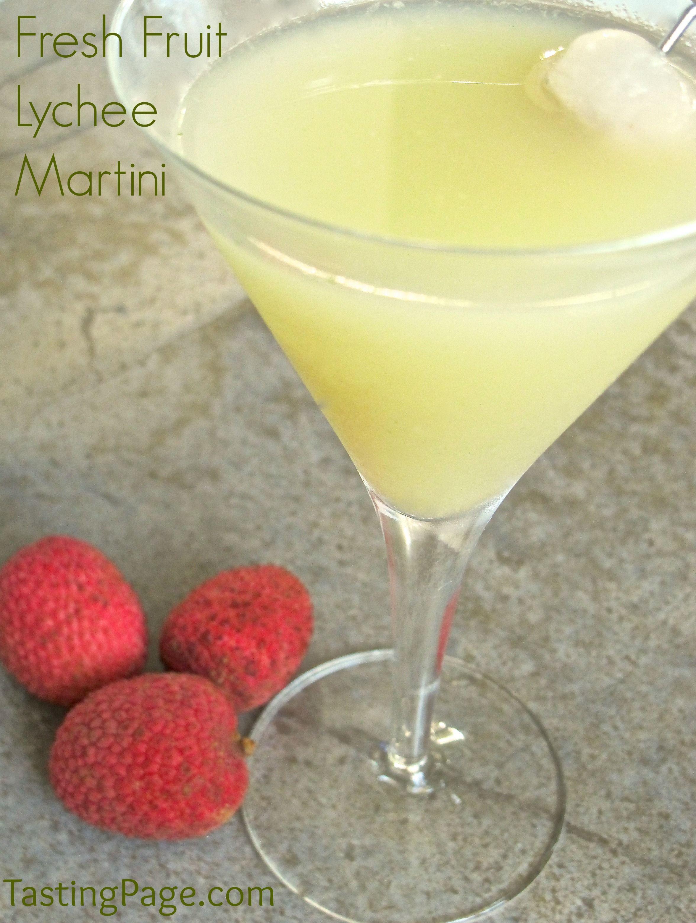 Fresh Fruit Lychee Martini — Tasting Page #lycheemartini