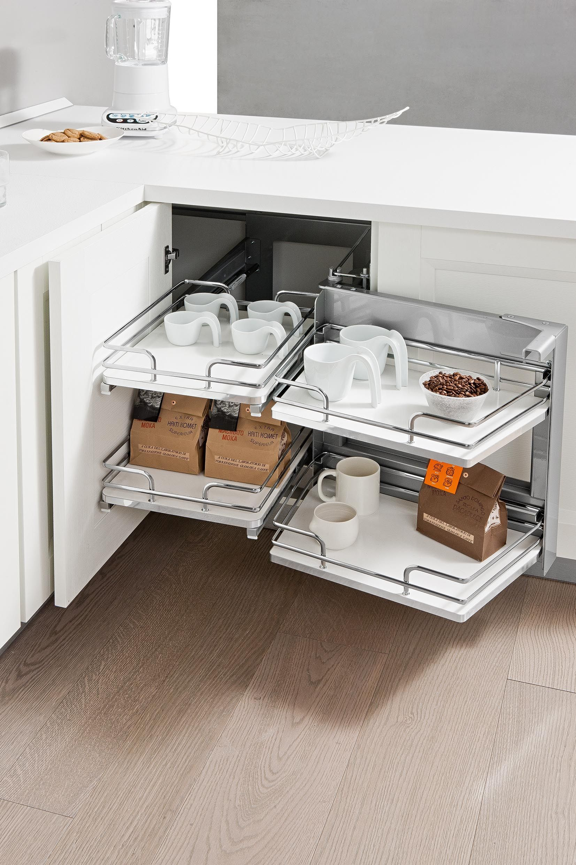 Beau Vibo Rolling Corner Kitchen Storage Unit