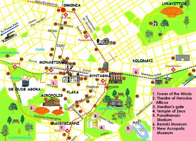 map of athens tourist Google Search Greece – Athens Tourist Attractions Map