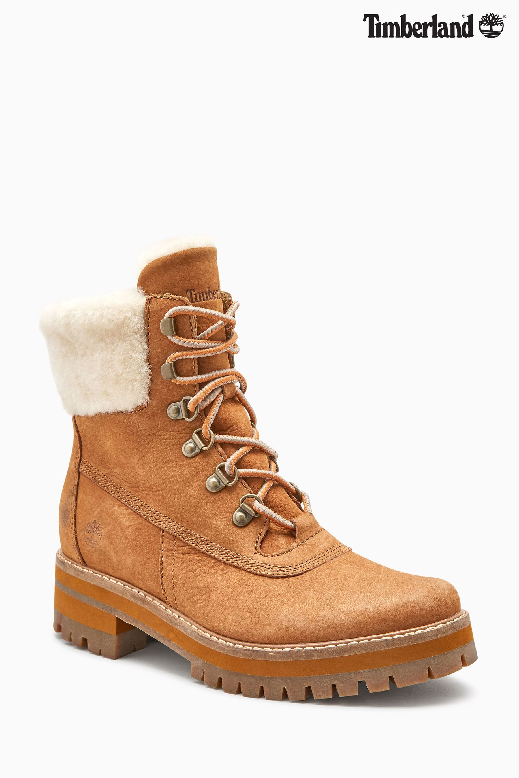 8dd9b40314036 Womens Timberland Courmayeur Valley Shearling Boot - Brown ...