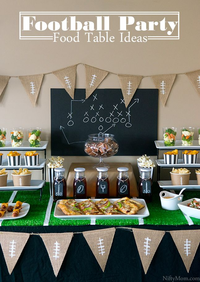 Game Time! Football Party Food Table Ideas