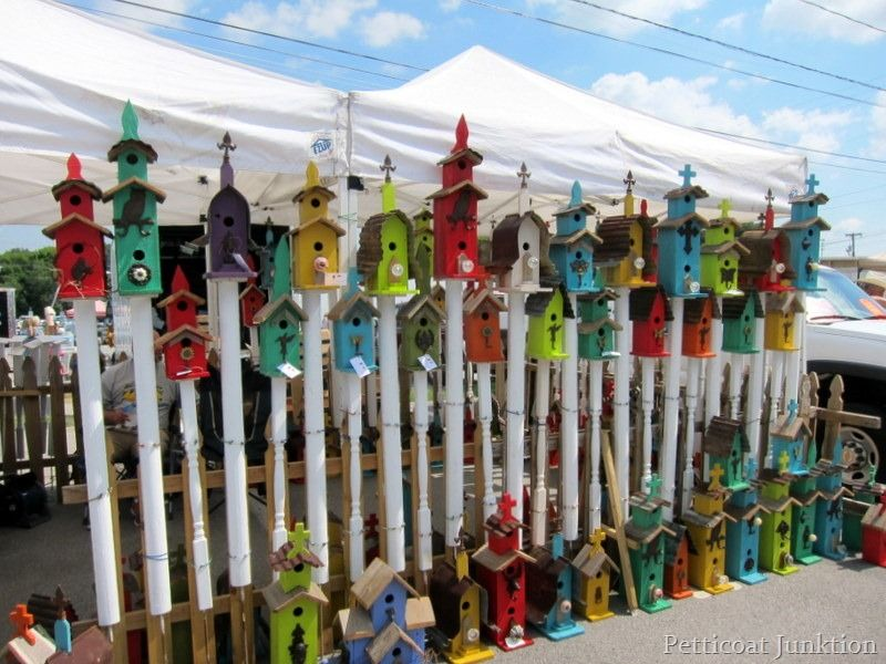Colorful Birdhouses spotted at the Nashville Flea Market #nashville #fleamarket #birdhouse