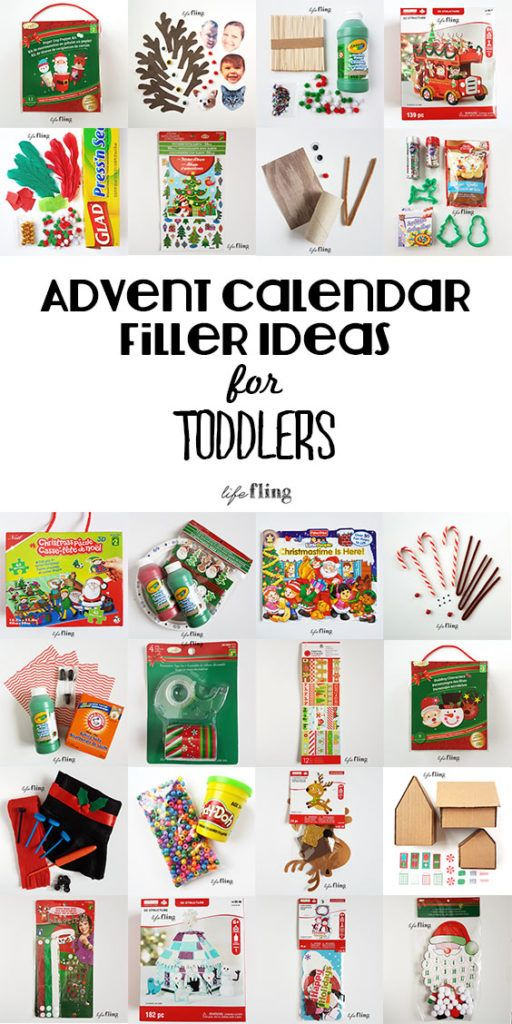 Christmas Advent Calendar Filler Ideas For Toddlers Advent