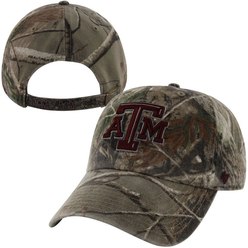 best website 278ac 3f614  47 Brand Texas A M Aggies Clean Up Adjustable Hat - Realtree Camo.