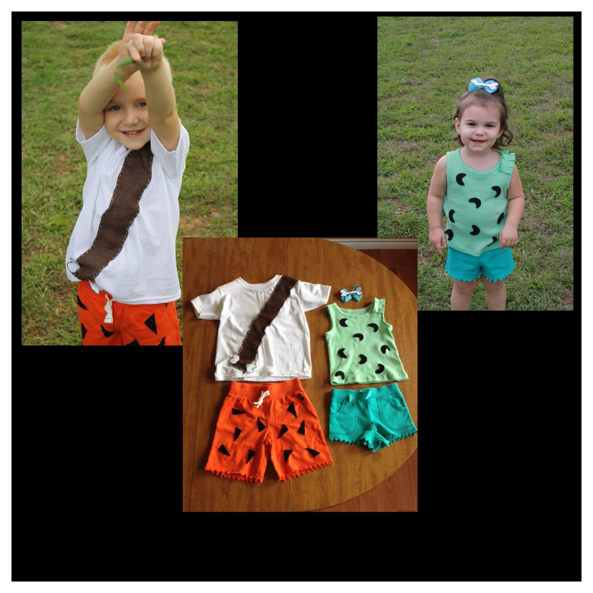 Pebbles and Bam Bam Halloween costumes #pebblesandbambamcostumes Pebbles and Bam Bam Halloween costumes #pebblesandbambamcostumes