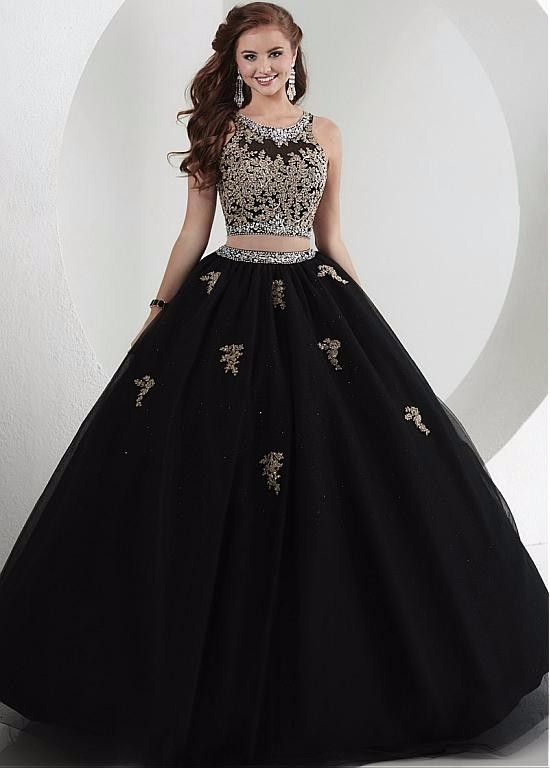 7e50b617d6d ... Fashion dresses italy. BLACK TULLE GOLD APPLIQUES