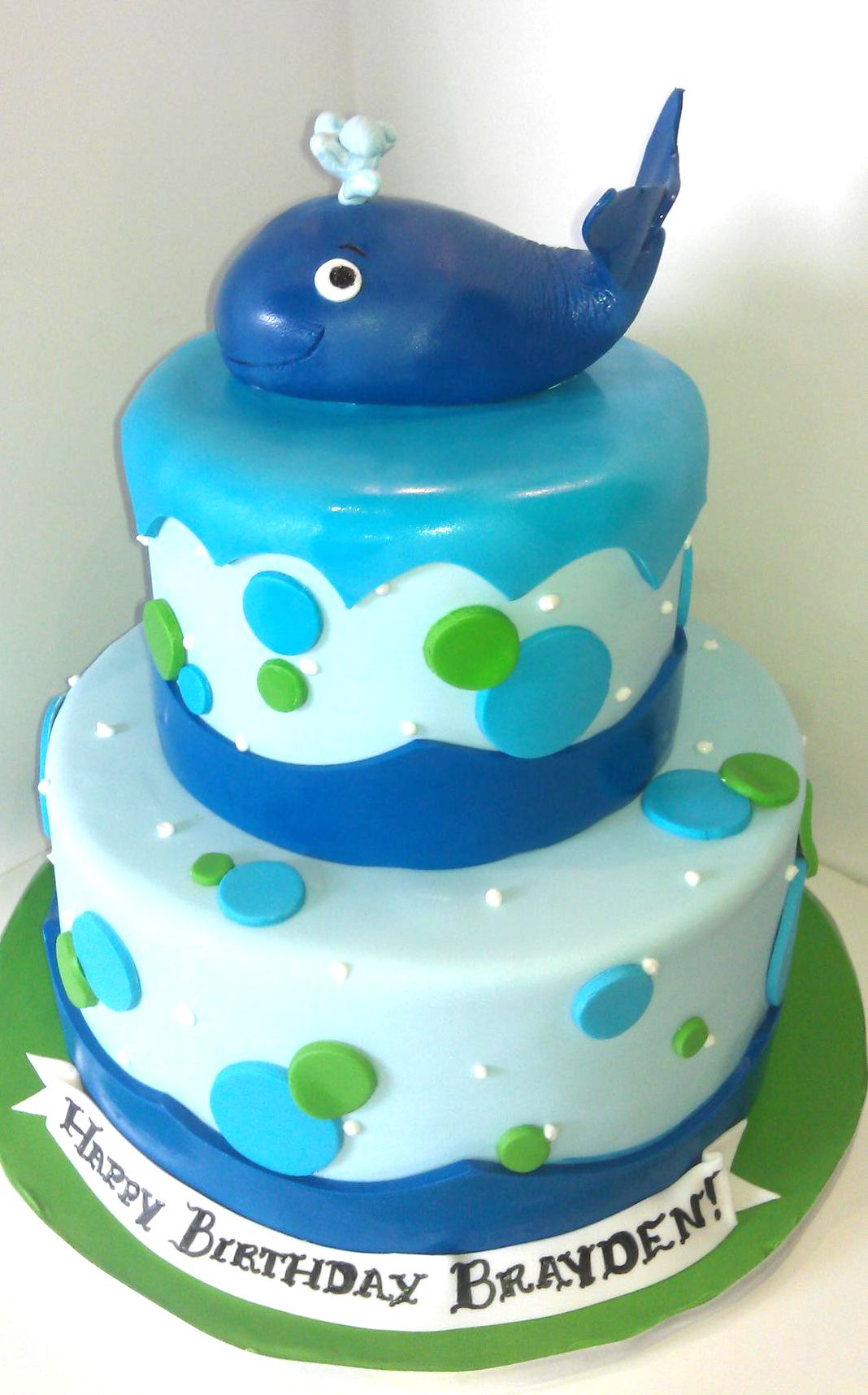 Blue Whale Birthday Cake Cakes Pinterest Whale birthday