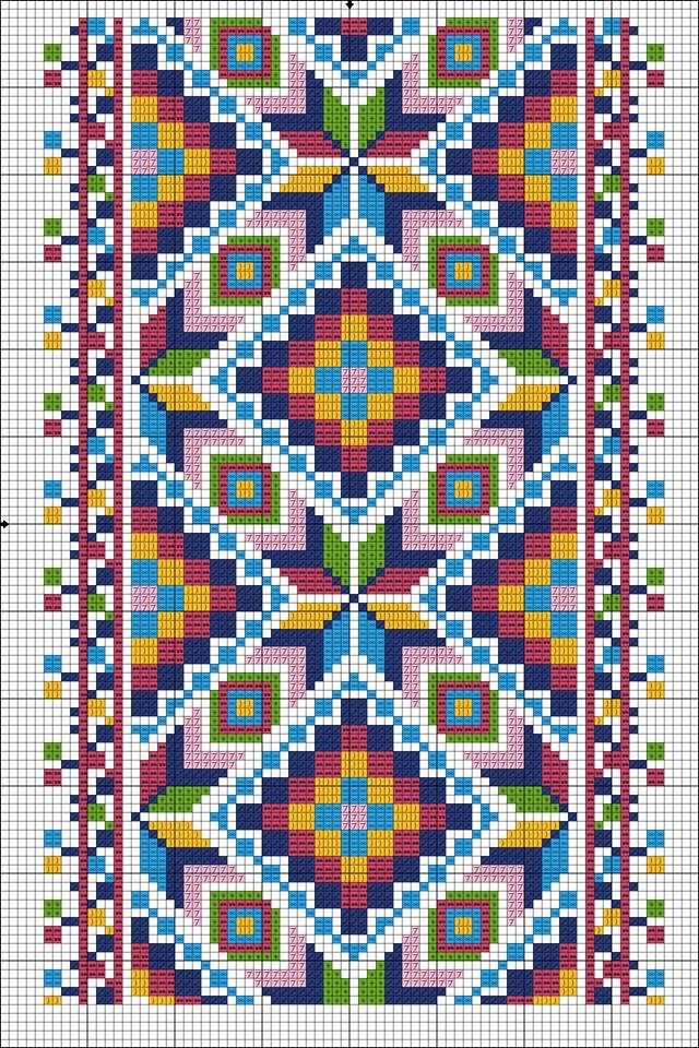 Pin von tana tana auf цветочная вышивка | Pinterest | Muster, Muster ...