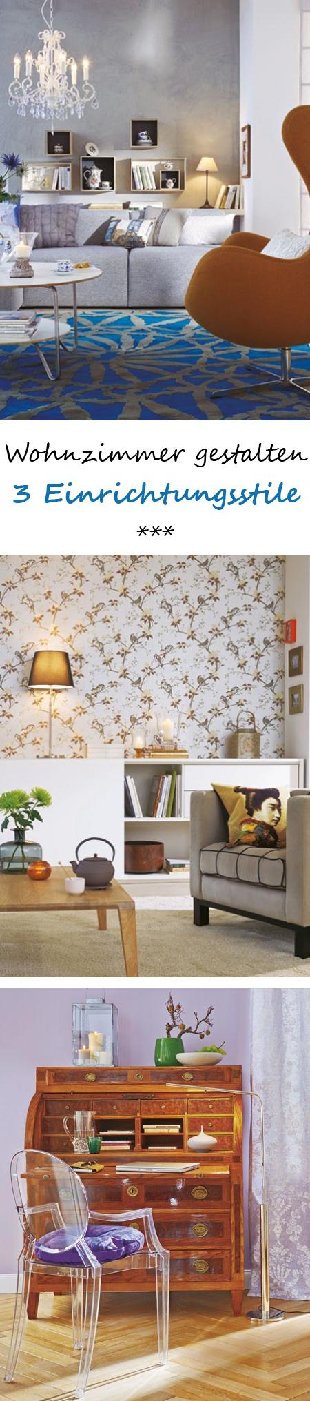 Wohnzimmer gestalten drei einrichtungsstile gegensatz for Wohninspirationen wohnzimmer
