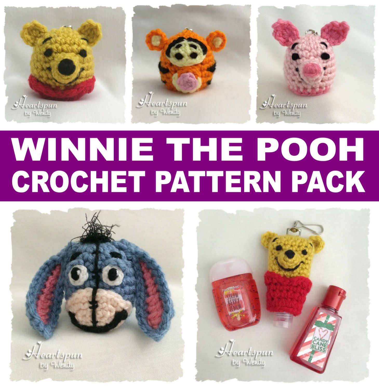 Save On This Crochet Pattern Bundle To Make Winnie The Pooh Eos