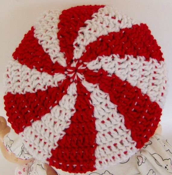 Crochet Pattern for Peppermint Swirl Candy Tam Hat Toddler and ...
